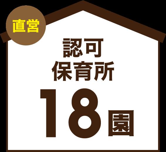 直営 認可保育所 18園