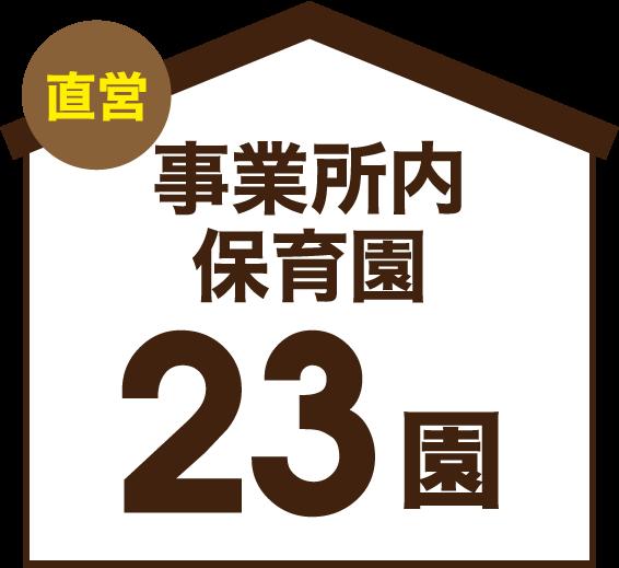 直営 事業所内保育園 23園